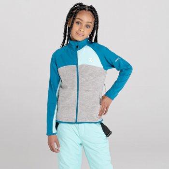 Kids' Except III Recycled Lightweight Stretch Midlayer Dark Methyl Aruba Blue Ash Grey Marl