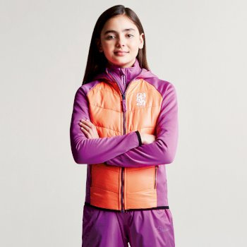 Kids Infused Insulated Hybrid Jacket Ultra Violet Purple Fiery Coral