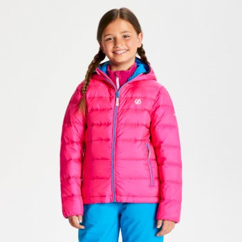 Kids' Reload Down Fill Hooded Padded Jacket Cyber Pink