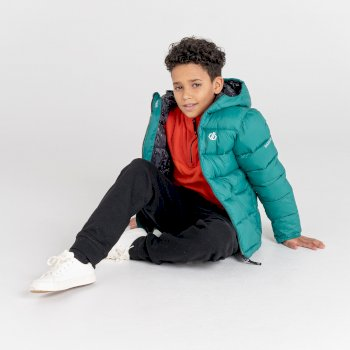 Kids' Bravo Puffer Jacket  Alpine Forest Black Shard Print