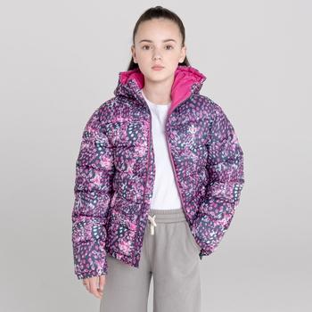 Kids' Bravo Puffer Jacket  Raspberry Rose Snow Leopard Print