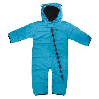 Kids Break The Ice Ski Snowsuit Fluro Blue