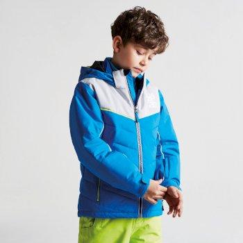 Kids Tusk II Ski Jacket Athletic Blue Cyberspace Grey
