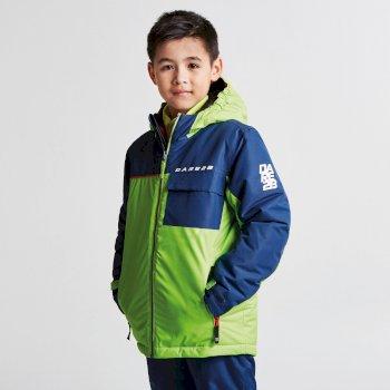 Kids Jester Ski Jacket Eclectic Lime Admiral Blue