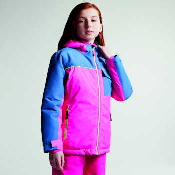Kids Jester Ski Jacket Cyber Pink Astronomy Blue