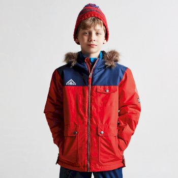 eeab12c7f Kids Reckless Waterproof Insulated Ski Jacket Code Red Admiral Blue