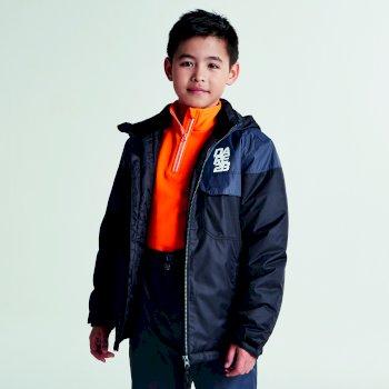 Kids Tyke Ski Jacket Black Ebony Grey