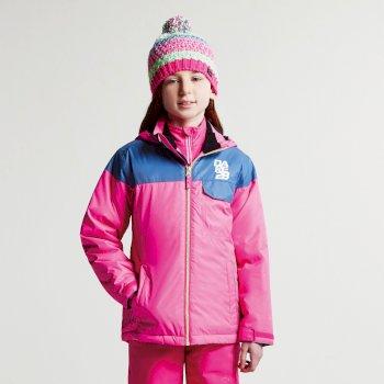 Kids Tyke Ski Jacket Cyber Pink Astronomy Blue