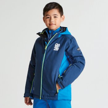 Kids Quell Ski Jacket Admiral Blue Athletic Blue