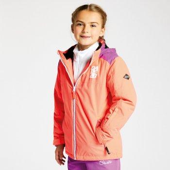 Kids External Ski Jacket Ultra Violet Purple Fiery Coral