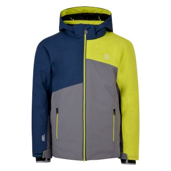 Kids' Chancer Ski Jacket Aluminium Grey Admiral Blue