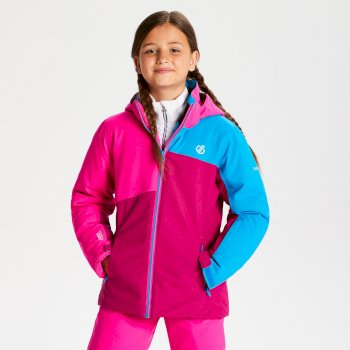 Kids' Chancer Ski Jacket Fuchsia Cyber Pink