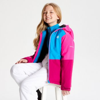 Kids' Aviate Ski Jacket Fuchsia Atlantic Blue Cyber Pink