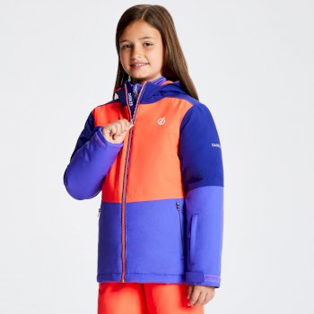 Kids' Aviate Ski Jacket Simply Purple Fiery Coral Spectrum Blue