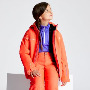 Kids' Entail Ski Jacket Fiery Coral