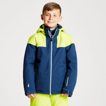 Kids' Entail Ski Jacket Admiral Blue Citron Lime