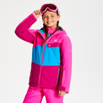 Kids' Wrest Ski Jacket Atlantic Blue Cyber Pink