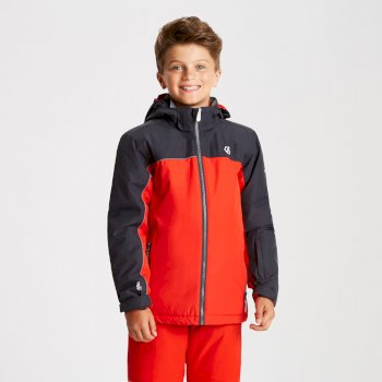 Kids' Legit Ski Jacket Fiery Red Ebony