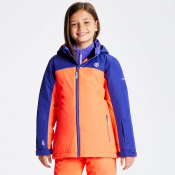 Kids' Legit Ski Jacket Fiery Coral Spectrum Blue