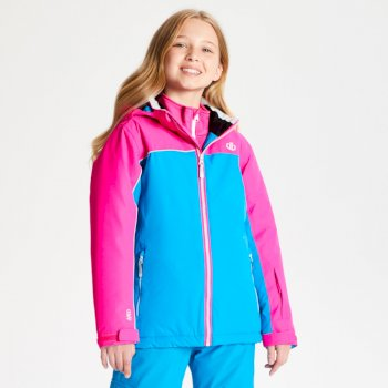 Kids' Legit Ski Jacket Atlantic Blue Cyber Pink