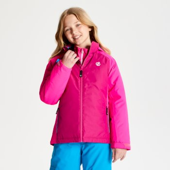 Kids' Amused Ski Jacket Fuchsia Cyber Pink
