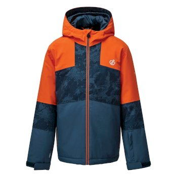 Veste de ski à capuche Junior imperméable et isolante CAVALIER Orange