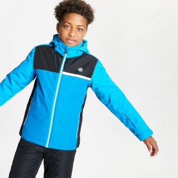 Kids' Depend Waterproof Insulated Hooded Ski Jacket Methyl Blue Petrol Blue
