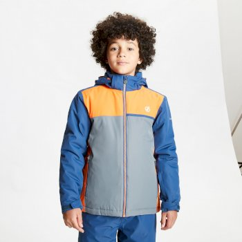 Kids' Depend Waterproof Insulated Hooded Ski Jacket Dark Denim Blaze Orange