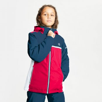 Kids' Depend Waterproof Insulated Hooded Ski Jacket Ceramic Blue Dark Denim