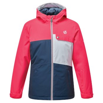 Veste de ski à capuche Junior imperméable et isolante ENIGMATIC  Rose
