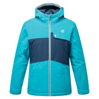 Veste de ski à capuche Junior imperméable et isolante ENIGMATIC  Bleu