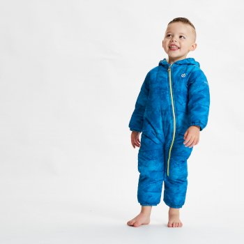 Kids' Bambino II Waterproof Insulated Snowsuit Petrol Blue Geo Camo Print