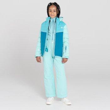 Kids' Cheerful Waterproof Insulated Ski Jacket Aruba Blue