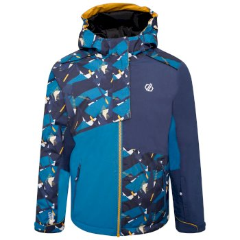 Kids' Glee Waterproof Ski Jacket Dark Methyl Blue