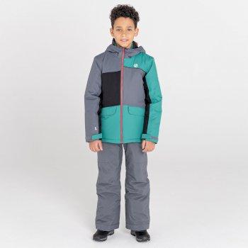 Kids' Remarkable Waterproof  Ski Jacket Dark Storm Alpine Forest
