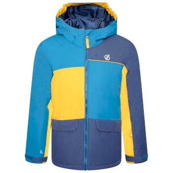 Kids' Remarkable Waterproof  Ski Jacket Dark Methyl Glowlight Yellow