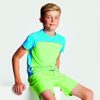 Kids' Buoyant Active T-Shirt Jasmine Green Petrol Blue