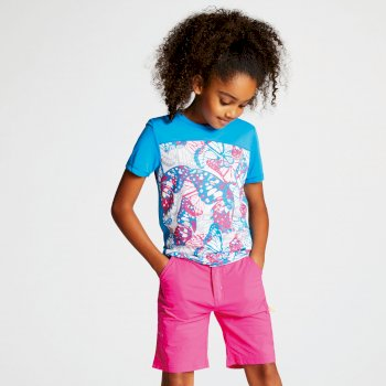 Kids' Buoyant Active T-Shirt Atlantic Blue Cyber Pink