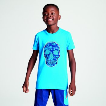 Kids' Frenzy Graphic T-Shirt Atlantic Blue Skull