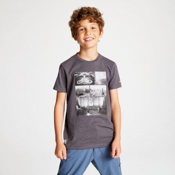 Kids' Frenzy Graphic T-Shirt Charcoal Grey Bike