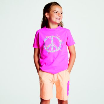 Kids' Frenzy Graphic T-Shirt Cyber Pink Peace