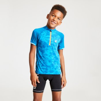 Kids' Sociate Lightweight Cycle Jersey Atlantic Blue