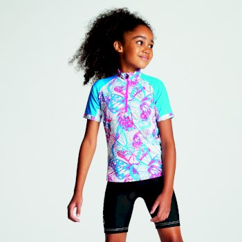 Kids' Sociate Lightweight Cycle Jersey Cyber Pink