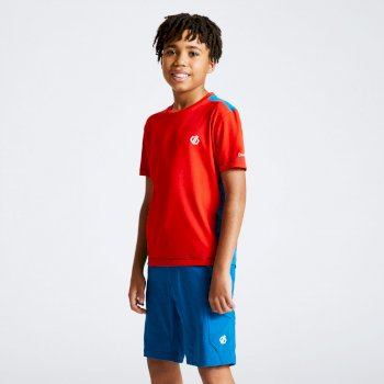 Kids' Bring It On T-Shirt Fiery Red Petrol Blue
