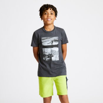 T-shirt Junior GO BEYOND avec imprimé Gris