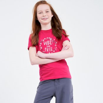 T-Shirt Junior GO BEYOND Avec Imprimé Rose