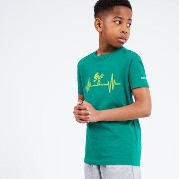 T-Shirt Junior GO BEYOND Avec Imprimé Vert
