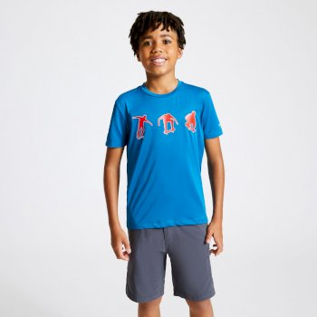 Kids' Rightful Graphic T-Shirt Petrol Blue
