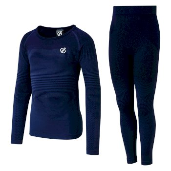 Kids' In The Zone Base Layer Set Dark Denim Gradient