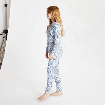 Kids' Partition Base Layer Set Dark Denim Animal Fusion Print